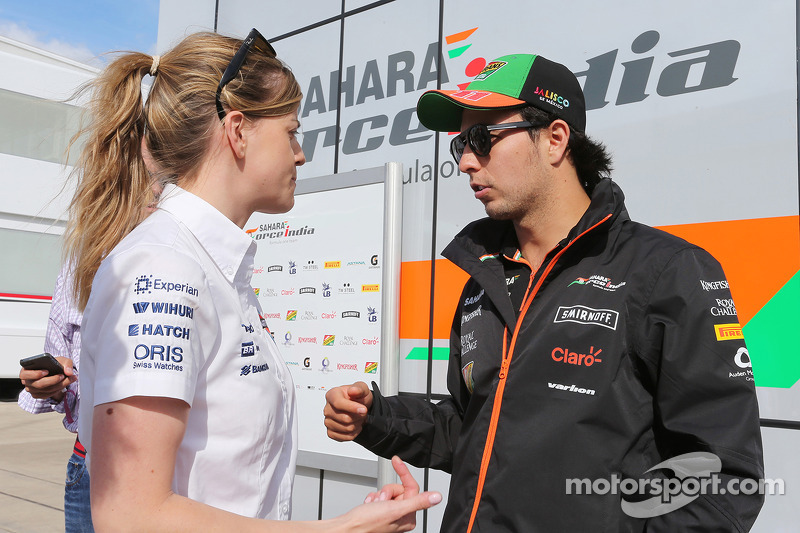 Susie Wolff, Williams piloto de desenvolvimento com Sergio Perez, Sahara Force India F1