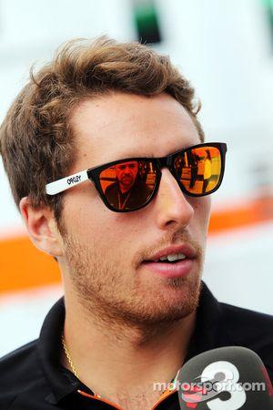 Daniel Juncadella, Sahara Force India F1 Team, Testfahrer, mit der Presse