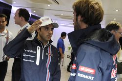 Felipe Massa, Williams, feiert seinen 200. GP; Jean-Eric Vergne, Scuderia Toro Rosso