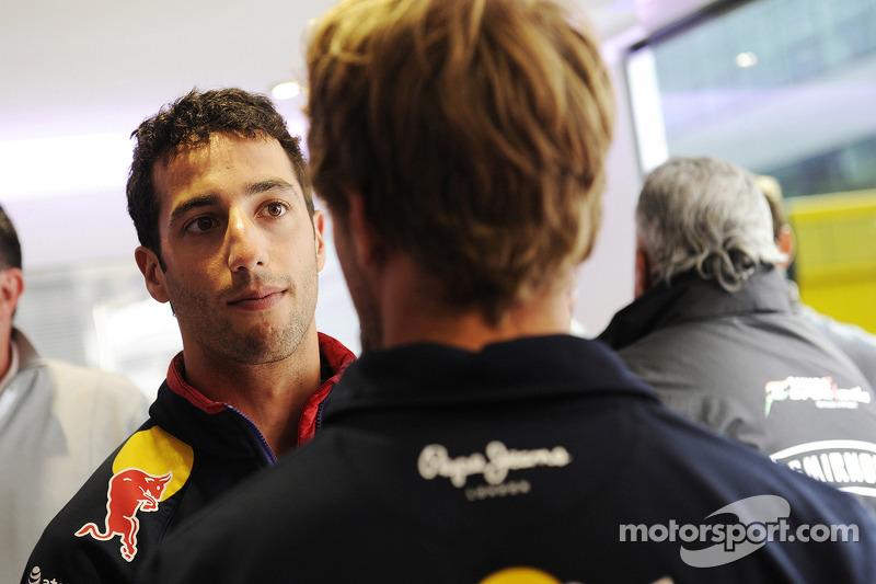 Daniel Ricciardo, Red Bull Racing with team mate Sebastian Vettel, Red Bull Racing