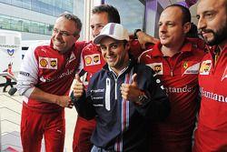Felipe Massa, Williams, feiert seinen 200. GP; Ferrari-Team