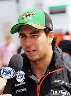 Sergio Pérez, Sahara Force India F1 con os medios