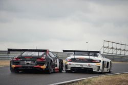 #2 Belgian Audi Club Team WRT Audi R8 LMS Ultra: Enzo Ide, Rene Rast and #84 HTP Motorsport Mercedes