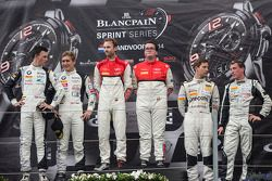 Podium: race winners Enzo Ide, Rene Rast, second place Thomas Jäger, Dominik Baumann, third place Robert Renauer, Jaap van Lagen