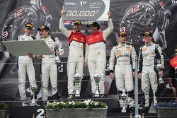 Podium: racewinnaars Enzo Ide, Rene Rast, tweede plaats Thomas Jäger, Dominik Baumann, derde plaats
