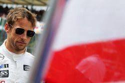 Startaufstellung: Jenson Button, McLaren