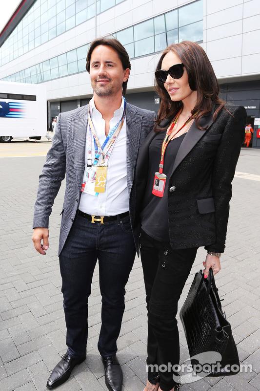 Tamara Ecclestone, con il marito Jay Rutland (GBR)