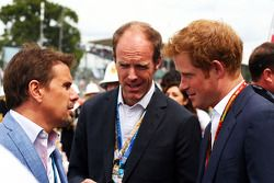Mark Stewart, with HRH Prince Harry, on the grid