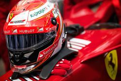 Kimi Raikkonen's crash helmet