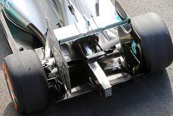 Nico Rosberg, Mercedes AMG F1 W05 arka kanat detayı