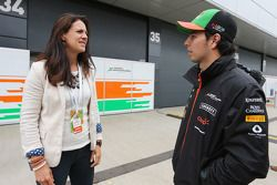 Sergio Perez, Sahara Force India F1 ve Hannah White, Broadcaster, Sailor ve Adventurer