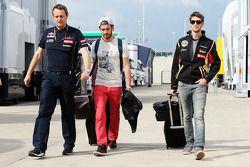 Jean-Eric Vergne, Scuderia Toro Rosso, and Romain Grosjean, Lotus F1 Team
