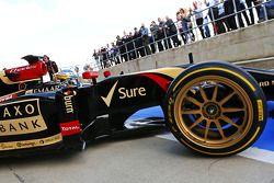 Charles Pic, Lotus F1 E22, Testfahrer, mit 18-Zoll Pirelli-Reifen