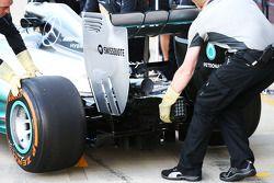 Lewis Hamilton, Mercedes AMG F1 W05 detalle del alerón trasero