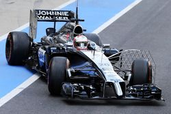 Kevin Magnussen, McLaren MP4-29 running sensor equipment