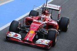 Jules Bianchi, Ferrari F14-T Test Driver running sensor equipment