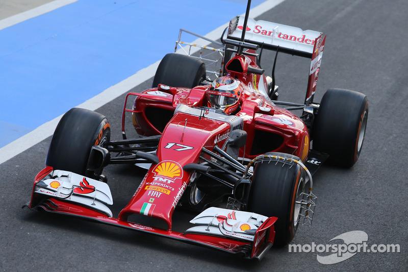Jules Bianchi, Ferrari F14-T, pilota collaudatore, con i sensori di velocità