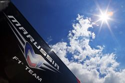 Marussia F1 Team truck in the paddock