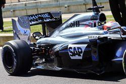 Kevin Magnussen, McLaren MP4-29 rear suspension detail