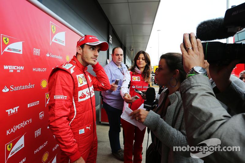 Jules Bianchi, Ferrari, pilota collaudatore con i giornalisti
