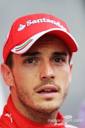 Jules Bianchi, Ferrari Test Driver with the media