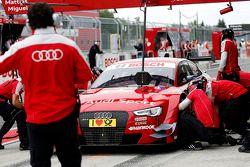 Arrêt au stand : Miguel Molina, Audi Sport Team Abt Audi RS 5 DTM