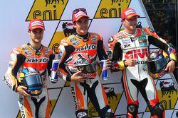 Pole position Marc Marquez, 2ème Dani Pedrosa, 3ème Stefan Bradl