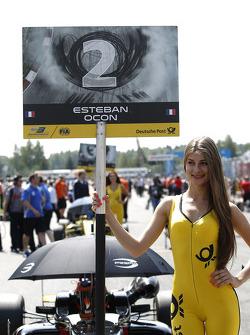 Gridgirl de Esteban Ocon