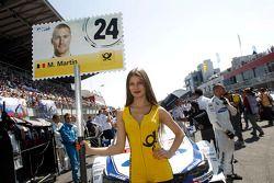 Gridgirl - Maxime Martin, BMW Team RMG BMW M4 DTM