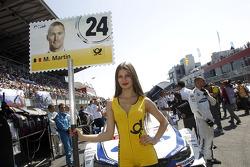 Gridgirl de Maxime Martin, BMW Team RMG BMW M4 DTM