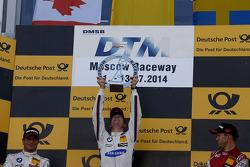 Pódio, vencedor Maxime Martin, BMW Team RMG BMW M4 DTM