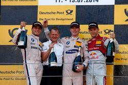 Podium, 2nd Bruno Spengler, BMW Team Schnitzer BMW M4 DTM, 1st Maxime Martin, BMW Team RMG BMW M4 D