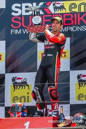 Марко Меландри. Лагуна-Сека, воскресенье, после первой гонки.