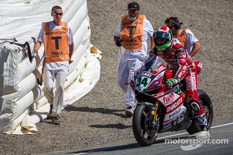 Davide Giugliano able to ride off