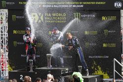 Podium: winner Toomas Heikkinen, second place Timmy Hansen, third place Johan Kristoffersson
