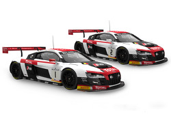 #1 Belgian Audi Club Team WRT: Audi R8 LMS ultra René Rast, Laurens Vanthoor, Markus Winkelhock e #2