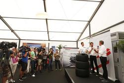 Patrick Dempsey mit Martin Brundle, Sky Sports F1