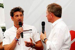 Patrick Dempsey en Porsche Supercup avec Martin Brundle