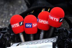 Sky Sports F1 microphones