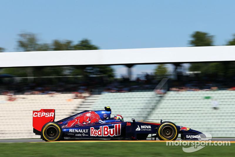 2014 год. За рулем Toro Rosso STR9 на одной из пятничных тренировок