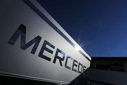 McLaren Mercedes logo on a truck