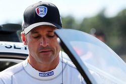 Patrick Dempsey compitiendo en la carrera de la Porsche Supercup