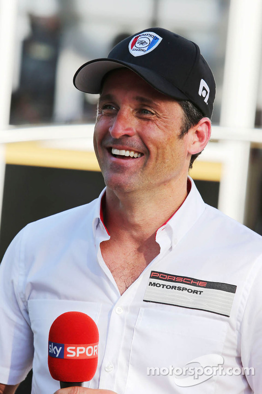 Patrick Dempsey está competindo na corrida Porsche Supercup