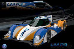 Een artimpressie van de LM P3-klasse bolide
