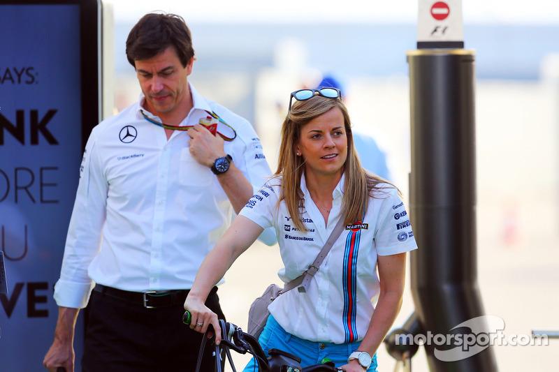 Susie Wolff, Williams piloto de desenvolvimento com marido Toto Wolff, Mercedes AMG F1 sócio