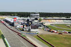 The Hockenheim pits and paddock