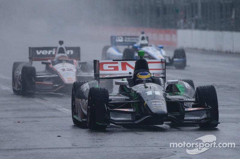 Sébastien Bourdais, KVSH Racing Chevrolet sotto la pioggia