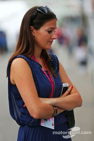 Laura Zinnel, fidanzata di Nico Hulkenberg, Sahara Force India F1