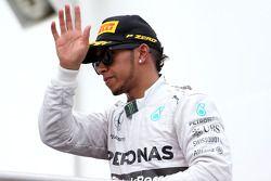 Podium: third place Lewis Hamilton