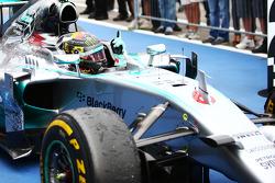 Race winner Nico Rosberg, Mercedes AMG F1 W05 celebrates in parc ferme